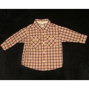 Gymboree Junior Varsity Plaid Shirt Size 6-12 M